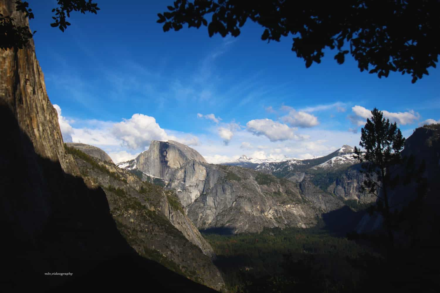 Shot capturing the beautiful natural landscape of Yosemite National Park