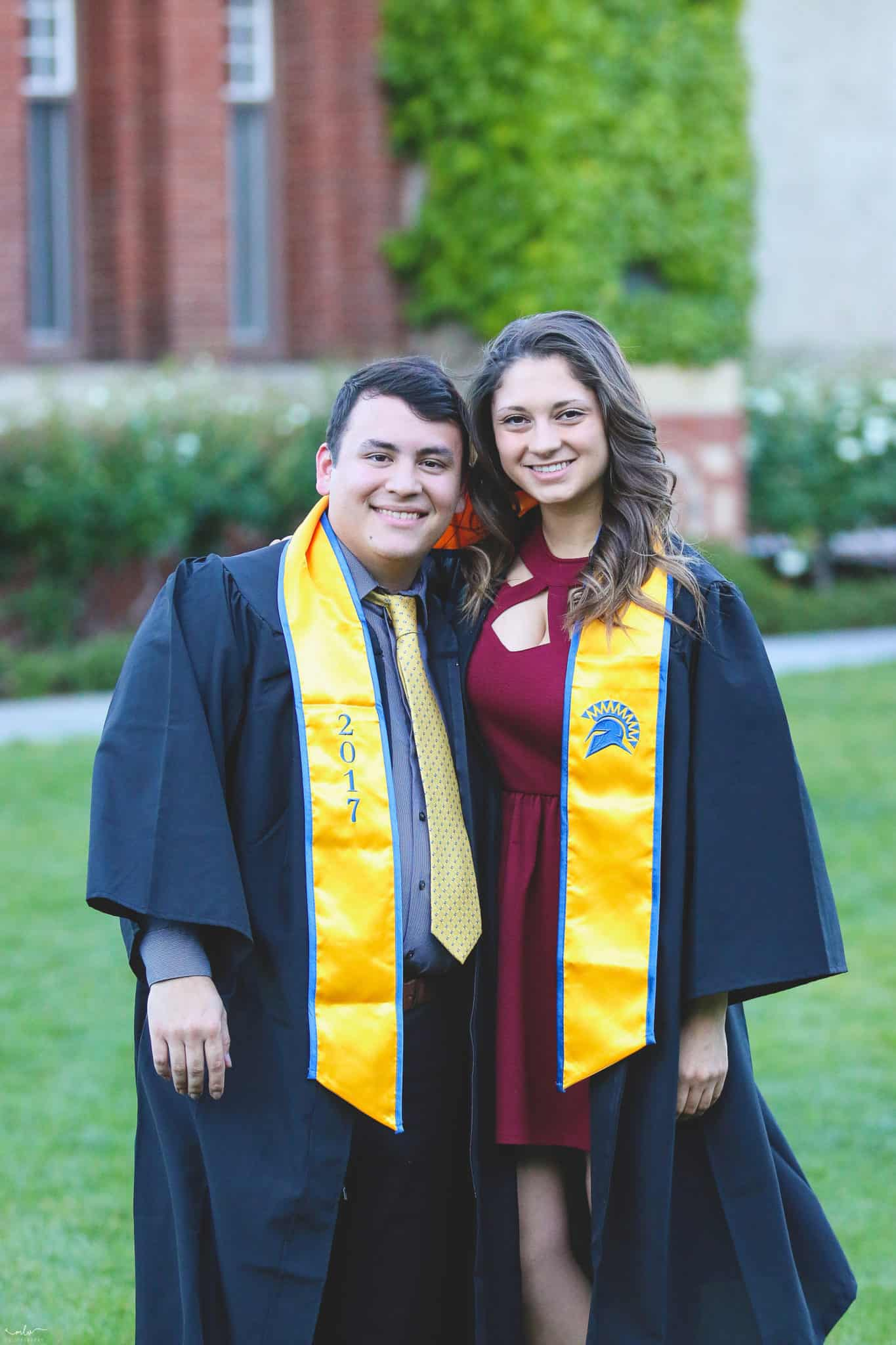 Graduation portraits and photoshoot at SJSU taken in San Jose, CA