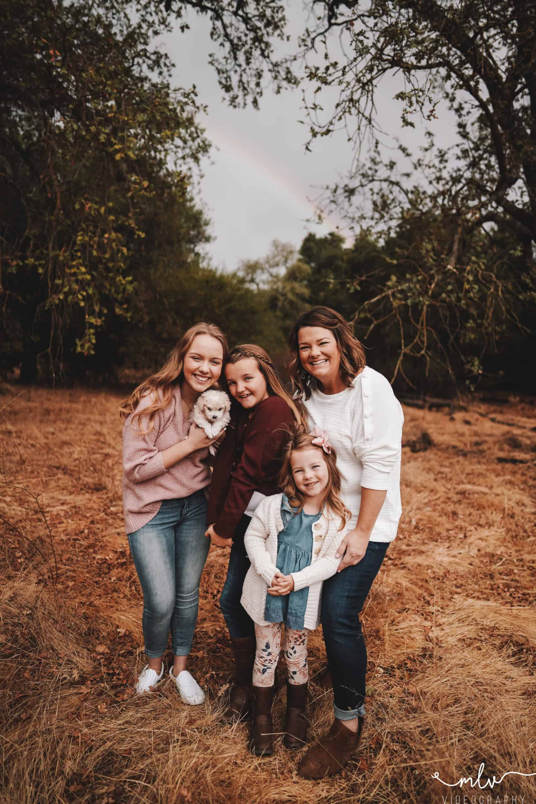 Family Photography at Guadalupe Oak Grove Trail in San Jose, California.